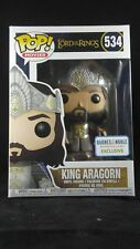 Funko Pop Movies 534 Lord of the Rings King Aragorn Barnes Noble Exclusive