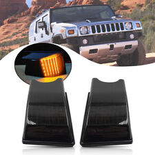 2Pcs Front Amber Led Cab Roof Light for Hummer H2 03-09 Smoke Clearance Top Lamp