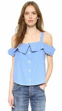 Clu Off The Shoulder Button down Top