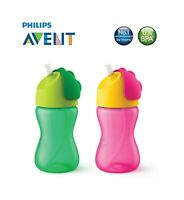 Philips Avent Green or Pink Straw Cups Cup Baby Bottle 300ml For Babies 12m+