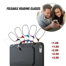 Nose Clip Reading Glasses Foldable Ultra Thin +1.00 +3.00 Stick on Phone Case