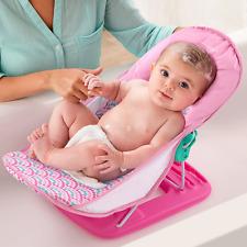 Baby Bath Seat Pink Bather Chair Tub Newborn Sink Bathtub Shower Infant Cushion
