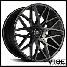 "22"" KOKO KUTURE FUNEN GLOSS BLACK CONCAVE WHEELS RIMS FITS RANGE ROVER"