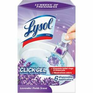 Lysol Click Gel Lavender Automatic Toilet Bowl Cleaner (6-Pack) 1920089060  - 1