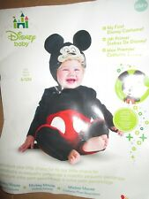 Boys infant DISNEY MICKEY MOUSE Halloween Costume size 6 - 12 months