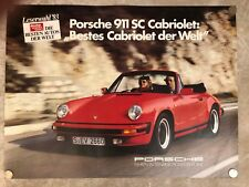 1983 Porsche 911 SC Coupe Showroom Advertising Sales Poster German RARE! Awesome