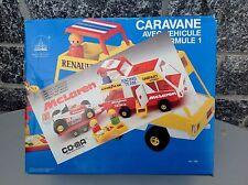 Vintage 80'S# Co-Ma Team Racing Van+F1Car Mc Laren Caravane Very Rare Nib
