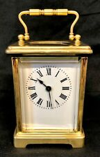 Brass Carriage Clock Mantel Clock Timepiece with Key : Working
