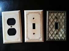 Vintage Tan Single Switch Wall Plates & Outlet Plate