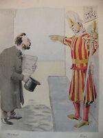 Simili Aquarelle L'oeuvre de Zola 1898 par H Lebourgeois Rome