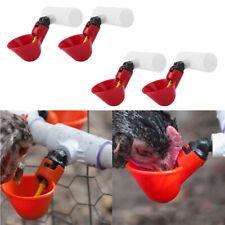 4X Poultry Water Drinking Cups Plastic Chicken Hen Bird Automatic Drinker