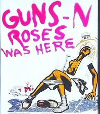 "Vintage 1987 ""Guns N Roses Was Here"" Iron On Transfer Slash Axel Rose Metal"
