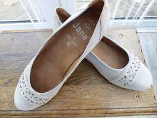 JANA Soft Flex Ladies Grey Suede Ballerina wedge Shoes UK6.5 EU40 BRAND NEW