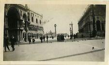 PHOTO ANCIENNE - VINTAGE SNAPSHOT - VENISE LA PIAZZETTA ITALIE 1923