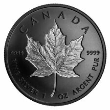 Canada 2020 20$ Rhodium-Plated Incuse Silver Maple Leaf 1 oz. Pure Silver Coin