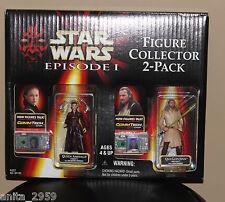 Star Wars Episode 1 Queem Amidala & Qui-Gon Jinn Collector 2-Pack CommTech Chip