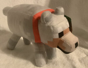 Minecraft Tamed Wolf Plush Stuffed Animal Toys Dolls Mojang Video Game Cute Gift