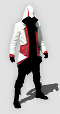 Connor Kenway Assassins Creed White and Red Hoodie Coat See Size Chart - A  XXL