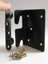 Heavy Duty Metal Bed Frame Corner Fitting Bracket LEFT Black (as photo)