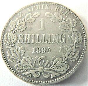 1894 ZAR SOUTH AFRICA, 1 Shilling grading VERY FINE.