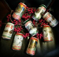 (8) 2020 Budweiser Limited empty 12oz beer cans Lot holiday top opened