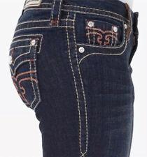 "NEW Rock Revival ALIVIA EASY BOOT Jeans Size 26 Dark Wash 33"" Hemmed Inseam"