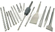 18Pc Drill & Chisel Set SDS Plus Drill Bits + SDS-MAX TO SDS-PLUS Adapter
