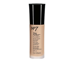 No7 Stay Perfect Foundation  SPF 15 Shade Cool Honey Exp: 5/20+