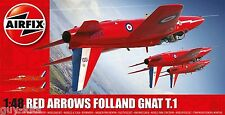 Avion Britannique FOLLAND GNAT T.1 - RED ARROWS - Kit AIRFIX 1/48 n° 05124