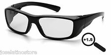 Pyramex Emerge Full Lens Magnification Safety Glasses 1.5 MAGNIFICATION!!