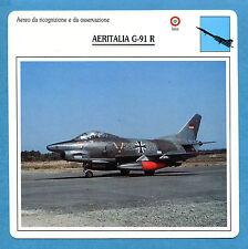 SCHEDA TECNICA AEREI - AERITALIA G-91 R - (ITALIA)