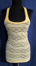 FREE PEOPLE gold stretch nylon lace T-back cami tank S *FREE SHIPPING* Very Nice