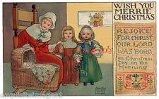 "1911 Albertine Randall Wheelan~""Merrie Christmas"" Sampler~Cradle~NEW Note Cards"