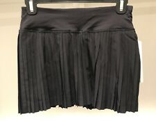 NWT Lululemon Pleat to Street Skirt II ~ Black ~ Sz 2 ~ Attached Shorties
