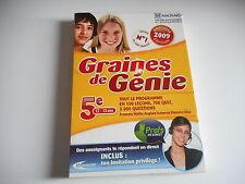 DVD ROM PC - GRAINES DE GENIE 5e. 12-13 ans 150 leçons. 700 quiz. 5000 questions