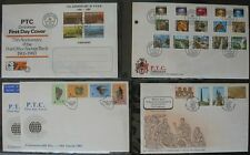 S1103) Zimbabwe Über 100 FDC 1980 - 2004 Collection in 2 RB with Cassette