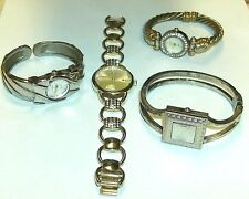 Lot Ladies Wristwatches Watches George Vivani J. Laurent Geneva Bangle Cuff Link
