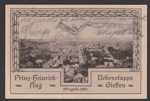 Germany. 1913 Aviation Post Card from Giessen. Prinz Heinrich Flug / Flight