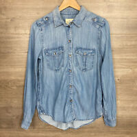 American Eagle Outfitters Women's XS Boyfriend Fit Button Down Shirt Chambray