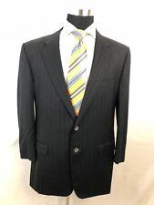 Corneliani Wool Black Striped Men's Sport Coat Jacket Blazer 46R
