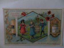 """Altes Kaufmannsbild für die Puppenstube Liebig, """"Kinder spielen 4"""" von 1897"""