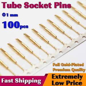 x100 Nixie/VFD Tube Socket Pins(1mm) Gold Plated IN-12 IN-18 Contact for Clock