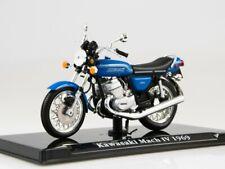 Scale model bike 1:24, Kawasaki Mach Iv 1969 Blue