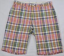 Polo Ralph Lauren Walking Golf Shorts Sz 34 Blue Yellow Pink Green White Plaid