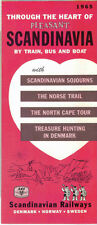 Vintage 1965 Europe Travel Brochure - Through the Heart of Pleasant Scandinavia