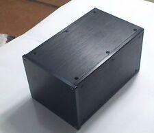 DIY Black Full Aluminum Enclosure amp case /Preamp box/PSU chassis