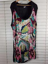 TS TAKING SHAPE sz 24 womens Cowl Neck Print Tunic Top [#890]