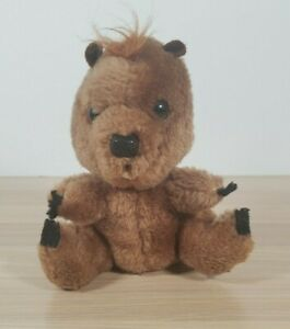 "Vintage Dakin 6"" Plush Toy Beaver Woodchuck Gopher 1980 Nice Beanbag"