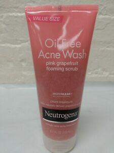 1 ~ Neutrogena Oil-Free Acne Wash Pink Grapefruit Foaming Scrub  6.7oz 4/2016