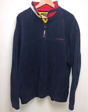 Tommy Hilfiger Fleece Jacket Men's XL Blue  Flag Logo Vtg 90s